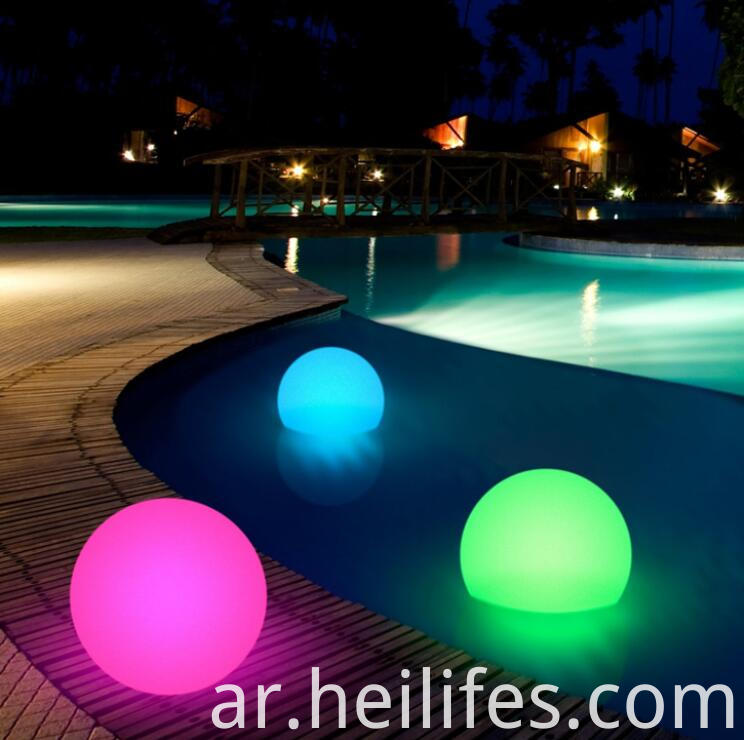 16 colors wireless swimming pool ball light