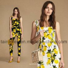 Reactive Environmental Printed Crepe De Chine Silk Fabric for Dress