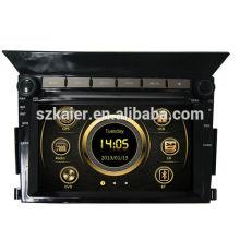 Vente chaude modèle voiture multimédia gps pour Honda Pilot avec GPS / Bluetooth / Radio / SWC / Internet virtuel 6CD / 3G / ATV / iPod / DVR