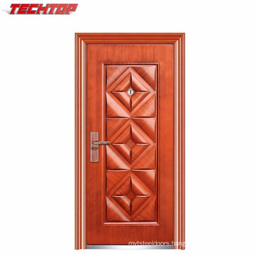 TPS-031 Front Door Iron Wrought Price Arch Top Steel Security Door Entrance Door
