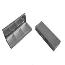 Rectángulo caja de la píldora del metal de plata (BOX-09)