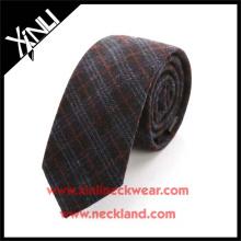 Elegant Style Plaid 100% Handmade Minion Wool Necktie Ties Man