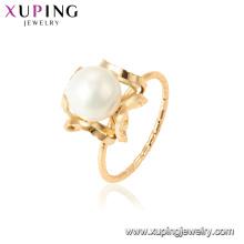 15457 xuping 18k позолоченный моды фанки имитация жемчужное кольцо для женщин