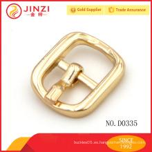Accesorios de encargo de la hebilla del metal del oro de la aleación del cinc del fahion venden al por mayor D0335