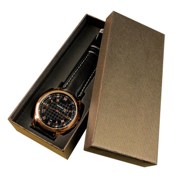 Golden special paper watch box with lid