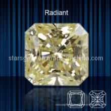 Squar Shape Raradio Corte Cubic Zirconia