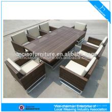 Mobilier d'extérieur de luxe rotin élégant patio osier table à manger et chaise (CF608)