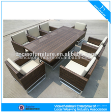 Luxury outdoor furniture elegant rattan patio wicker dining table and chair (CF608)