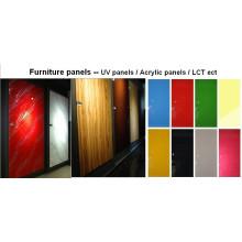 Foshan fabricante UV painel MDF para uso de porta de gabinete de cozinha