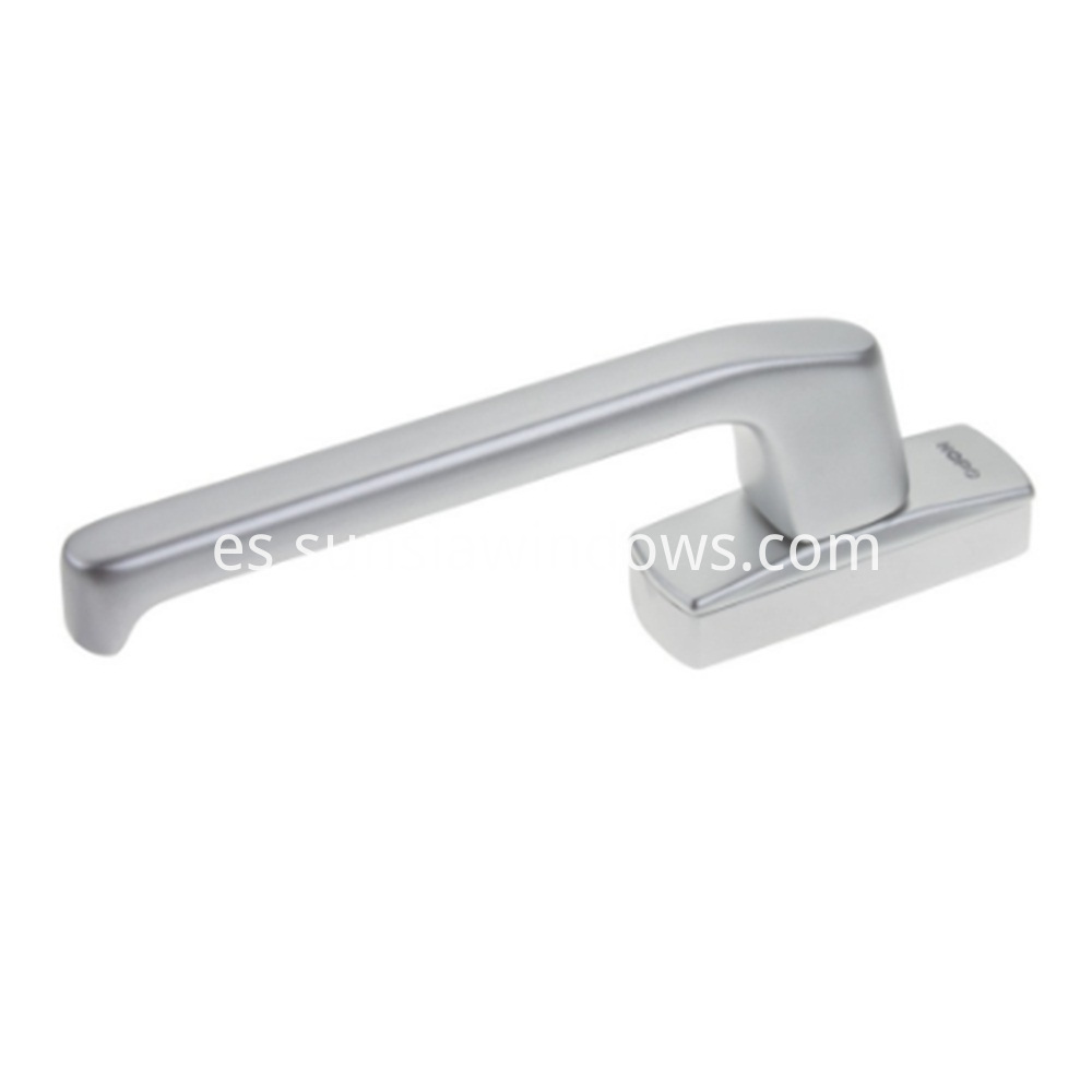 Single Side Door Fork Handle From HOPO Geared Handle in Silver Color