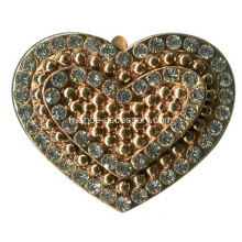Heart Design Rhinestone Metal Buckle Wholesale; Bijoux pour chaussures
