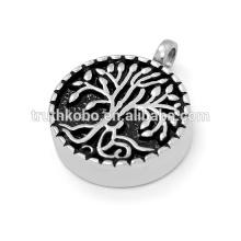 Pendentif en acier inoxydable design de mode pour les cendres de crémation dans un collier de bijoux britannique