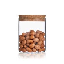 Glass jar 1 liter borosilicate kitchen storage spice jars set transparent glass jar cork