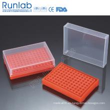 Bastidores de tubo de PCR de 96 pozos con cubierta