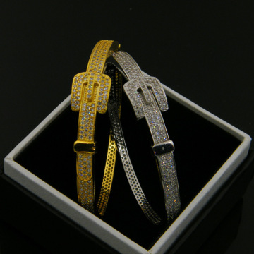 Braccialetto Zircon Diamond Gold Belt Copper Band Party