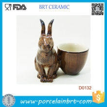 Popular Rabbit Decorative Porcelain Egg Cup