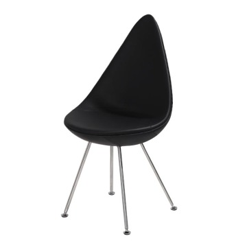 Arne Jacobsen Leather Esszimmer Stuhl Drop Stuhl Reproduktion