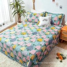 Wholesale Hotel Light Cyan Bedspread Oversized Lightweight All-Season