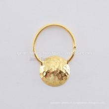 Designer Nose Ring Jewelry Manufacturer, bijoux faits à la main en or plaqué or