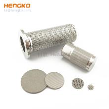 90 100 Micron sintered porous metal powder stainless steel 304 316L filter cylinder wire mesh strainer
