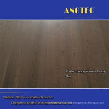 Heat Insulation Rustic Groove Engineered Wood Flooring