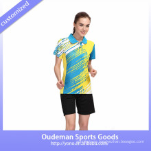 2017 nuevos diseños del uniforme y del jersey del bádminton para el desgaste del bádminton / del bádminton de las mujeres en venta al por mayor