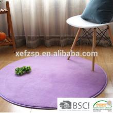 microfiber memory foam washable round floor mat for yoga