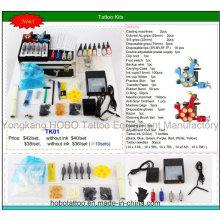 Bon marché global Kits de tatouage avec deux Machines Power Supply 26 pièce un ensemble