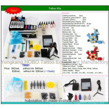 Kits de tatuajes generales baratos con dos máquinas de suministro de energía 26 piezas un conjunto