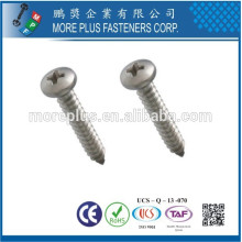 Fabricado em Taiwan Stainless Steel 306 # 8 Phillips Drive Round Head Self Tapping Screw