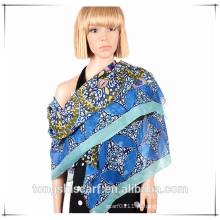 lenço de voile impresso best-seller da senhora da forma com projeto do OEM e do ODM