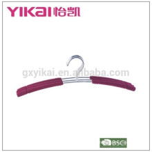 2015EVA foam coated padded metal wire shirt hanger in natural color