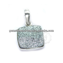 Handmade Druzy Silver Gemstone Necklace For Women In Wholesale Price Wholesale Supplier For Necklace