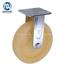 Roulette robuste de 8 pouces avec plaque