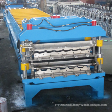 corrugated steel sheet and colored steel wall roof panel cold roll forming machine