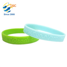 Wholesale embossed pattern promotional bracelet