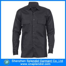 Camisas de seguridad largas al por mayor de la manga de la ropa de trabajo