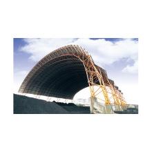 Светлая Стальная Структура Рамки Космоса Угольный Склад Строительных
