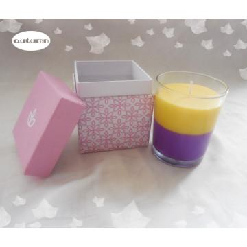Mezcla de Color Vela Romántica / 7.5 * 9 Cm Vela de Cristal Perfumada