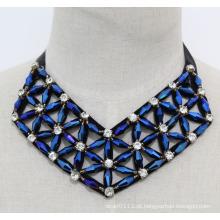 Senhora geométrica cristal bijuterias gargantilha colar de moda (je0169)