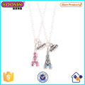 Wholesale Metal Alloy Crystals Eiffel Tower Pendant Necklace