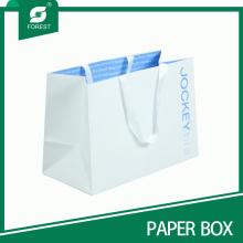 2015 Custom Luxus White Papiertüte für Kleidung und Shopping