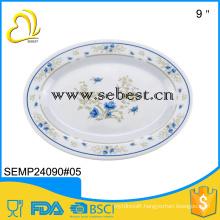 factory prices custom design melamine restaurant oval fish plate
