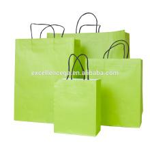 Sac en papier vert Fashion