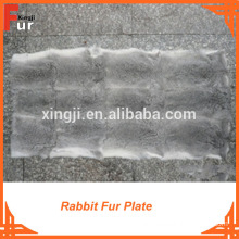 Rabbit Fur, Natural Grey Color Fur Plate