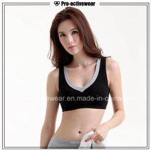 OEM Atacado Novo Design Polyester Mulheres Spandex removível Pads Sports Bra