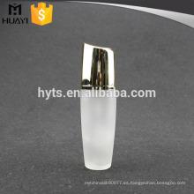 botella de loción de cuerpo de vidrio vacío de lujo con bomba de crema