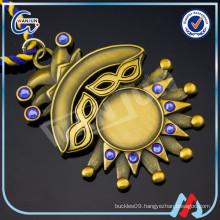 Gold 3D crystal Blank Medal