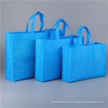 Sacos de compras dobráveis ecológicos em tecido não tecido