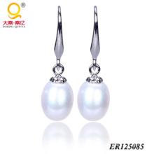 Pendientes de perlas de agua dulce